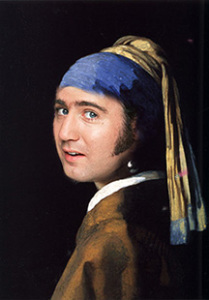 Andy Kaufman with a Pearl Earring