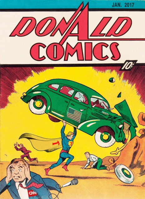 Cover of Donald Trump Comics (Parody of Action Comics) by Craig H Collins)