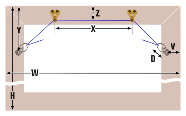 Two Hook Frame Hanging Diagram