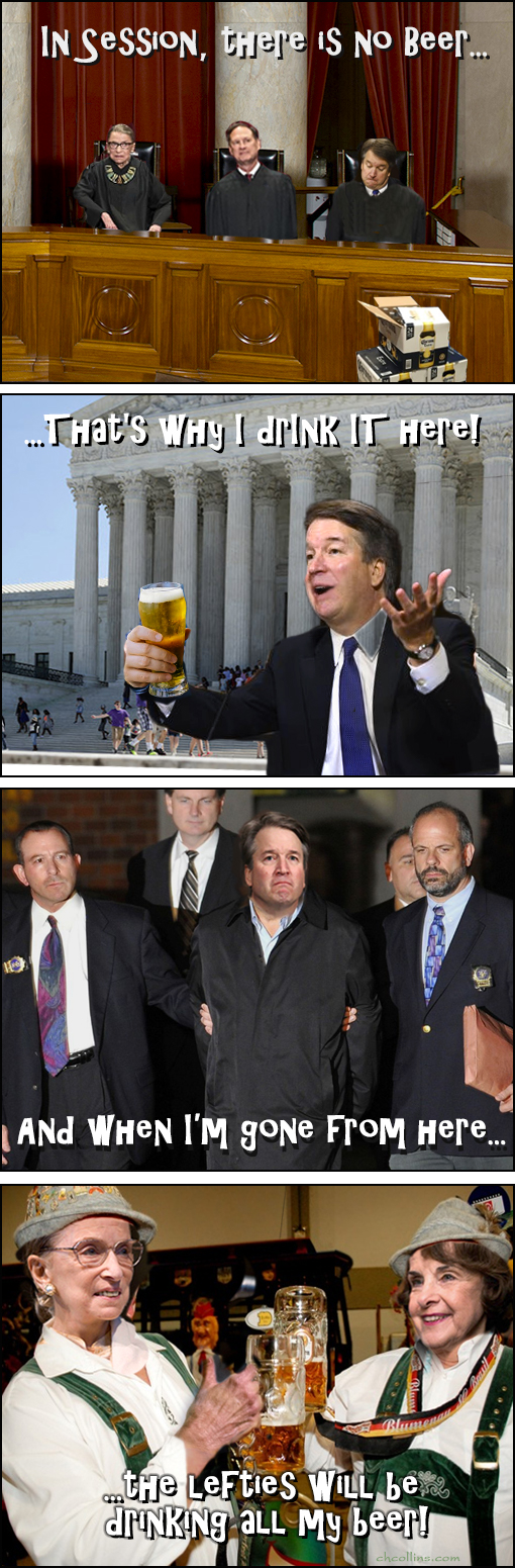 In session, there is no beer... That's why I drink it here (right here!)... And when I'm gone from here... The Lefties will be drinking all my beer!