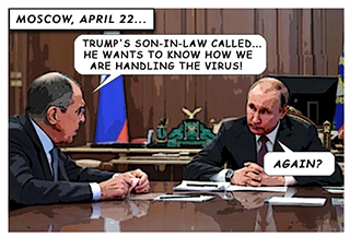 The Red State Cure Cartoon: Putin Has the Last Laugh As Trump Claims Sarcasm