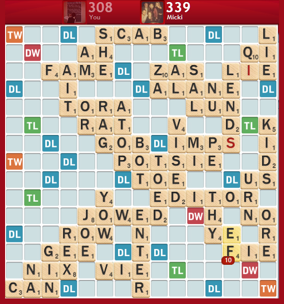 Scrabble Board - The 100 Billionth Person